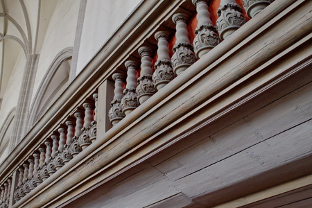 Balustrade in the church St. Peter and Paul in Goerlitz