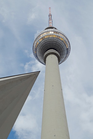 Berliner Fernsehturm with spiky roof