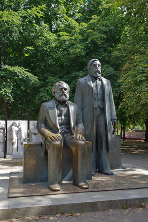 Karl Marx and Friedrich Engels statue in Berlin