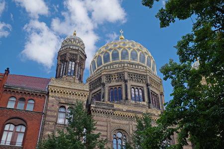 Building of the New synagogue in Berlin, Oranieburger Strasse Reklamní fotografie