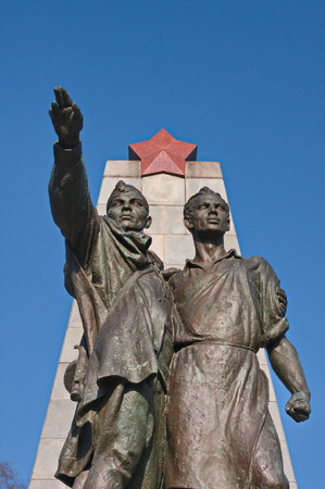 Monument of liberation by Red Army in Ostrava, Czech Republic.