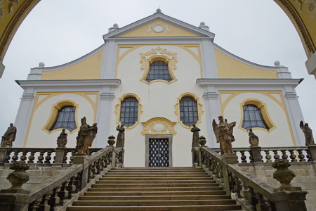 Basilica of the Assumption of the Virgin Mary on the Holy Mountain in Pribram, Central Bohemia, Czech Republic.