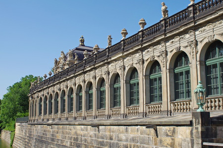 Zwinger palace in Dresden, western facade at Zwigergraben Stock Photo