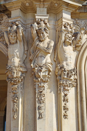 Zwinger palace in Dresden, detail of scultural decoration