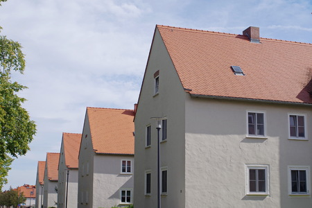 A row of simple residental houses in Goerlitz