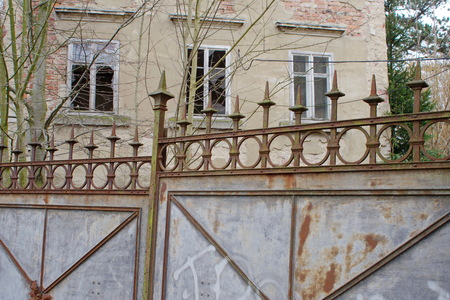 Rusty gate in Goerlitz Stock Photo