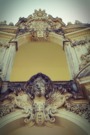 Zwinger palace in Dresden, detail