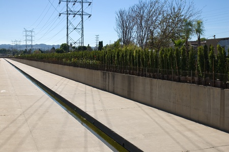Drainage Channels and Electric power transmission lines