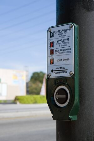 Traffic lights button in Los Angeles