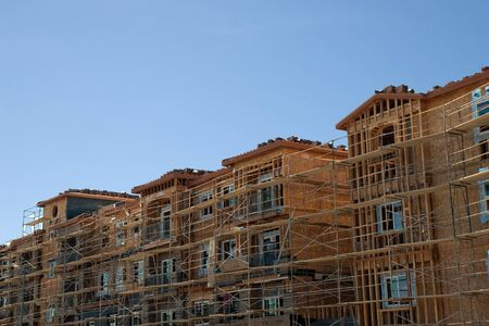 New building construction  Working people
