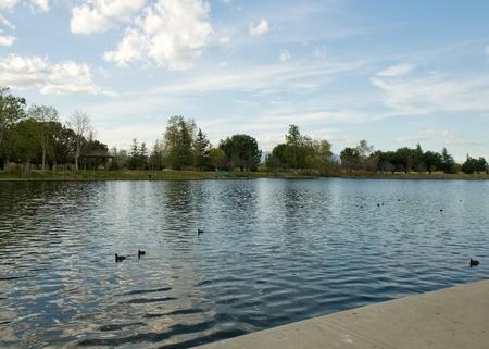 Lake Balboa in beautiful background