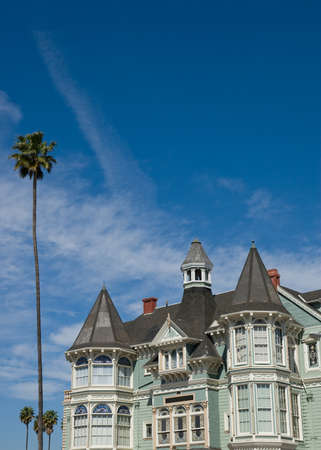 House in front of blue sky