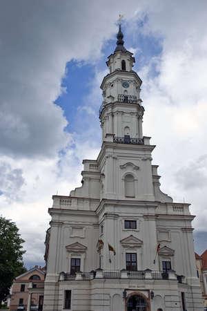 City Hall in front of dark sky Stock Photo