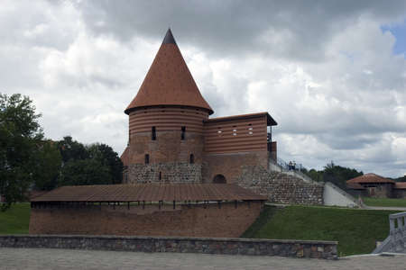 Castle and dark clouds