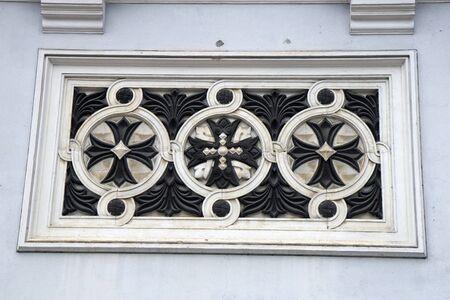 Three crosses on St  Michael the Archangel s Church Stock Photo