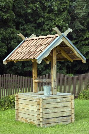 New water well close up