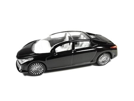 Model of black car isolated on white background Stock Photo - 9920590