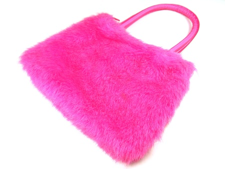 Pink handbag photo