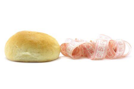 metre: Small loaf and metre measure ruler