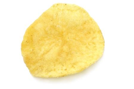 Single potato chip close-up photo