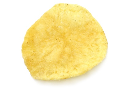 potato chip: Single potato chip close-up