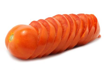 threaded: Threaded red tomato