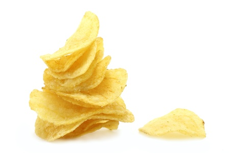 Chips pyramid and single chip photo