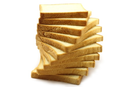 Pieces of white bread photo