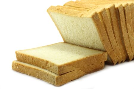 Pieces of white bread Stock Photo