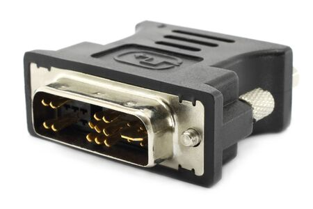 hdmi: HDMI connector for the monitor Stock Photo