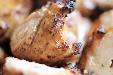 pulpy: Shish kebab pieces close-up