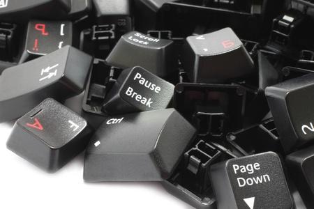 Keyboard keys isolated on a white background photo