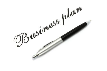 Ball pen and words on a white background Stock Photo - 11308167