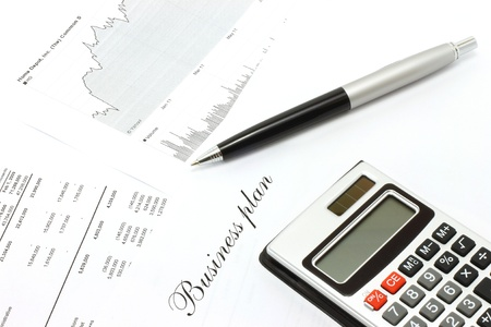 Graphs of sales a symbol of successful corporate business close-up photo