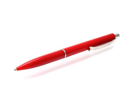 Ball pen on a white background  Stock Photo - 12402080