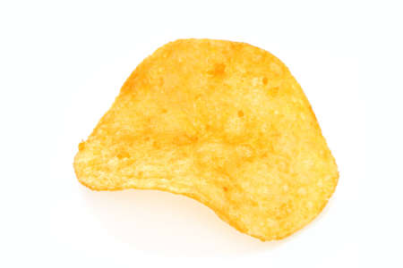 Single potato chip close-up Stock Photo - 12727559
