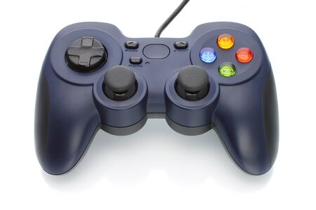 Game pad on white background