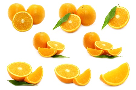 Oranges on white background photo