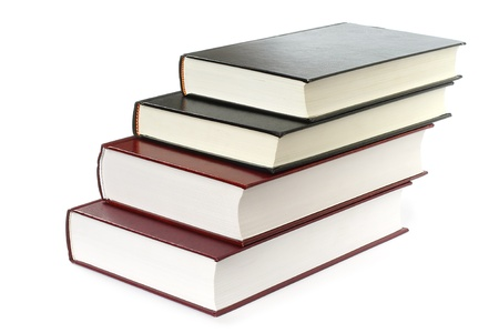 Stack of books on white background Stock Photo - 13199928