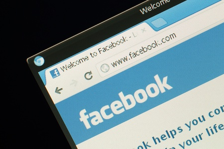 KIYV - MARCH 9  Homepage of Facebook com, the biggest social network website, on March 9, 2012 in Kiyv, Ukraine