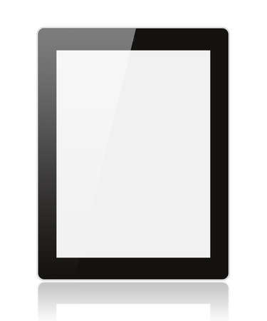 note pc: Tablet PC isolated on white background  Stock Photo