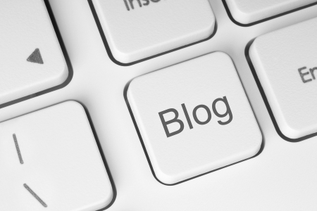 Blog button on the keyboard close-up Stock Photo - 15124075