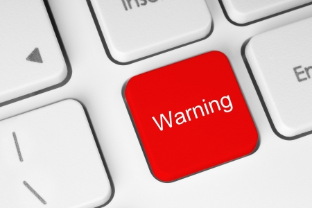 Red warning button on the keyboard Stock Photo - 15569641