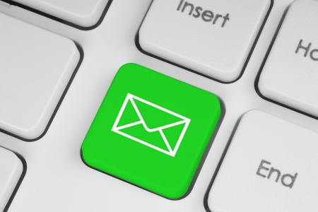 Mail keyboard button on the keyboard close-up Stock Photo - 15569685