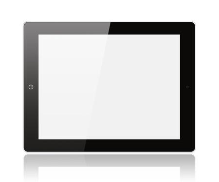 Black digital tablet pc on white background  Stock Photo - 15569830