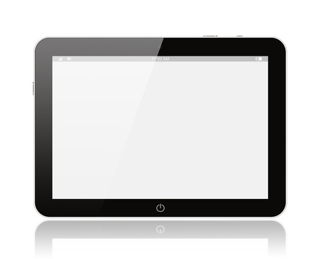 Preto pc tablet digital no fundo branco