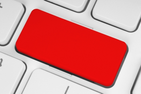 Blank red button on the keyboard close-up  Stock Photo