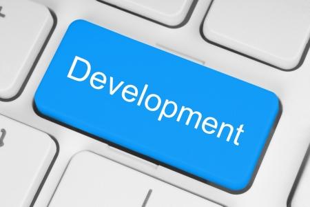 Blue development keyboard button