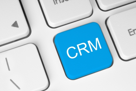 Blue CRM keyboard button