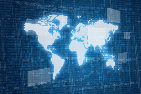 printed circuit board: Map on digital  Stock Photo